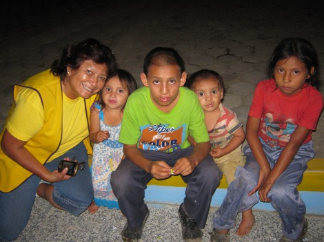 The Peña Córdova children in March 2014, two months post-surgery.