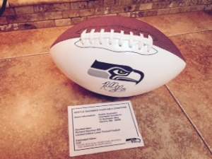 Signed SeaHawks Football