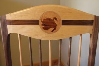 chair, swan detail