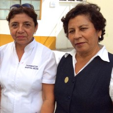 Romy and Lucy, staff at the public hospital, Belen